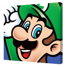 Super Mario Luigi Character Nintendo Platform Video Game Series Mascot Stretched Canvas - 16x16
