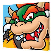 Super Mario Bowser Character Nintendo Platform Video Game Series Mascot Stretched Canvas - 16x16