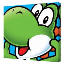 Super Mario Yoshi Character Nintendo Platform Video Game Series Mascot Stretched Canvas - 16x16