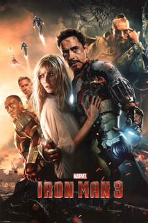 Iron Man 3 Superhero Movie Film Marvel Comics Poster 24x36