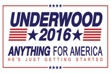 Frank Underwood 2016 - Anything For America Campaign Poster - 12x18