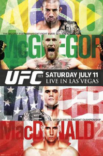 UFC 189 Jose Aldo vs. Conor McGregor Sports Poster 24x36