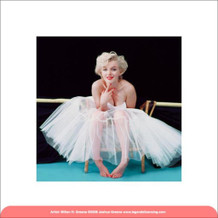 Marilyn Monroe Ballerina Hollywood Glamour Celebrity Actress Icon Photograph Photo Poster - 15.75x15.75