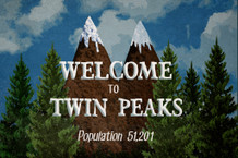 Welcome To Twin Peaks Sign TV Show Art Print Poster 18x12