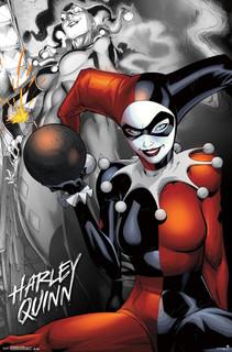 Harley Quinn Bomb Comic Book Art Print Poster 22x34