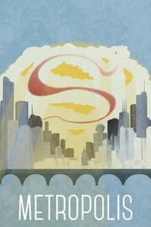 Metropolis Fantasy Travel Poster Poster 12x18