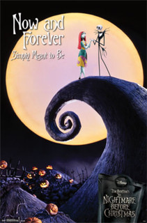 Nightmare Before Christmas Now and Forever Jack and Sally Movie Poster 22x34