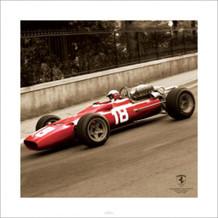 Ferrari F1 Vintage Bandini 6 Poster - 15.75x15.75
