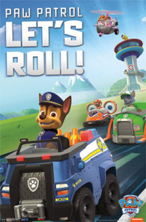 Paw Patrol Lets Roll Cartoon TV show Poster 22x34