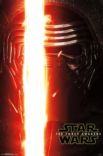 Star Wars The Force Awakens Portrait Kylo Ren Movie Poster 22x34