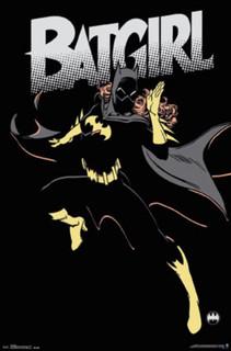 Batgirl Barbara Gordon Black and Yellow Comic Book Art Print Poster 22x34