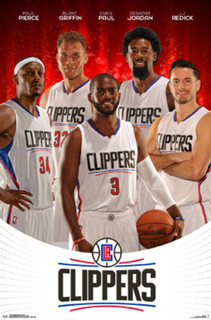Los Angeles Clippers Team Players NBA Basketball Sports Poster 22x34