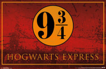 Platform 9 3/4 Hogwarts Express Harry Potter Movie Poster 34x22