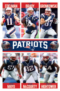 New England Patriots Team Players NFL Football Sports Poster 22x34