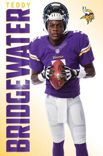 Teddy Bridgewater Minnesota Vikings NFL Football Sports Poster 22x34