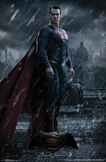Batman v Superman Superman Rain Movie Poster 22x34