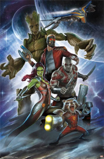 Guardians of the Galaxy Attack Movie Comic Book Art Print Poster 22x34