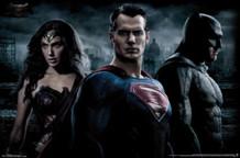 Batman v Superman Trio Wonder Woman Movie Poster 34x22