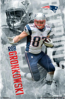 Rob Gronkowski New England Patriots NFL Football Sports Poster 22x34