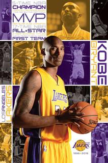 Kobe Bryant Los Angeles Lakers NBA Basketball Sports Poster 22x34