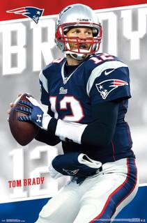 Tom Brady New England Patriots Football Sports Poster 22x34