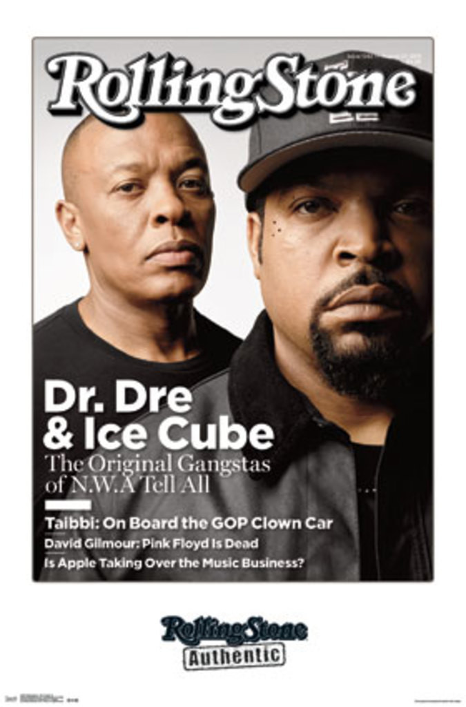 Rolling Stone Dr Dre Ice Cube Nwa Music Magazine Cover