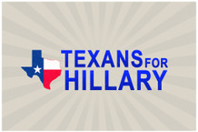 Texans For Hillary Clinton President Campaign Poster 18x12