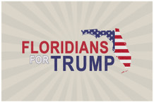 Floridians For Donald Trump President Campaign Poster 18x12