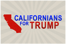 Californians For Donald Trump President Campaign Poster 18x12