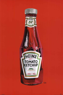 Heinz Ketchup Bottle Pop Art Poster 24x36