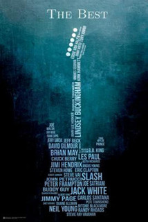 The Best Greatest Guitarists Names Music Art Print Poster 24x36