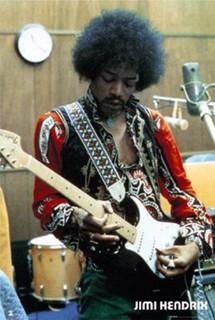 Jimi Hendrix In Studio Music Poster 24x36