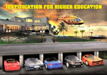 Justification for Higher Education Lenticular 3-D Poster - 18.5x26.5