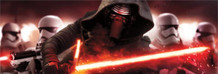 Star Wars The Force Awakens Kylo Ren Attack Movie Poster 62x21