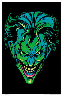 Joker Neon Retro Comic Book Art Blacklight Poster 24x36