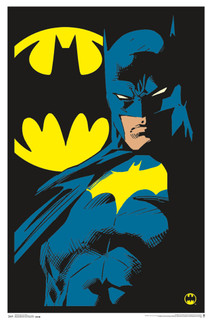 Batman Neon Retro Comic Book Art Blacklight Poster 24x36