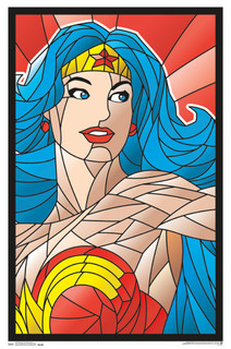 Wonder Woman Neon Retro Comic Book Art Blacklight Poster 22x34