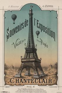 Exposition Chanteclair Paris Eiffel Tower Vintage Style Art Print Poster 24x36