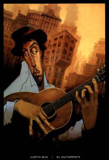 Justin Bua El Guitarrista Art Print Thick Cardstock Poster 24x36