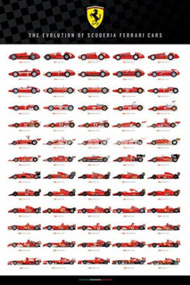 Ferrari - Evolution of Scuderia Poster - 24x36