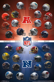 NFL Helmets 2016 Football Sports Poster 24x36
