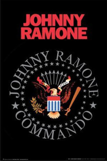 Johnny Ramone Commando Logo Music Poster 24x36