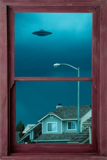 UFO Window Photo Art Print Poster 24x36