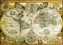 World Map Historical Art Print Giant Poster 55x39