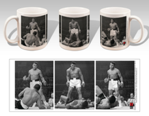 Muhammad Ali vs. Sonny Liston Triptych Boxing Sports Coffee Mug