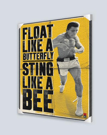 Muhammad Ali Float Like a Butterfly Stretched Canvas 24x36