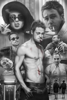 Fight Club Collage Movie Poster 24x36