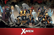 X Men Team Comic Book Art Poster 34x22