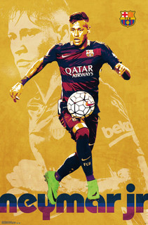 FC Barcelona Neymar Jr 2016 Soccer Sports Poster 24x36
