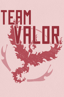 Team Valor Red Video Gaming Poster 12x18